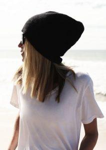 dzianinowa czapka na co dzien
